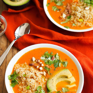 Creamy Carrot Coconut Soup with Red Curry.