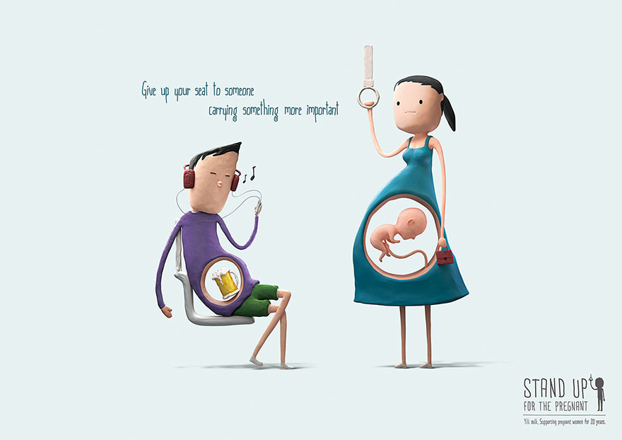 Cute Illustrations That Reminds Us To Give Up Our Seats To Pregnant Women