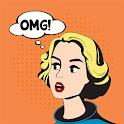 Pop Art Comics Keyboard Stickers for Gboard icon