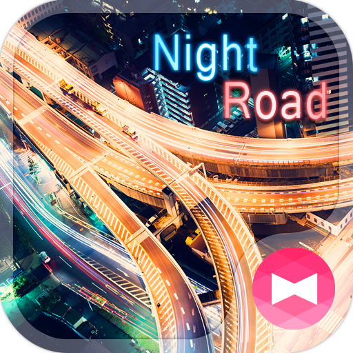 Stylish Theme Night Road Icon