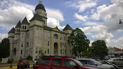 Photo: August 7-The idyllic town square in Carthage, MO resembled a number that I would find on the route in various states of upkeep.  This one was among the best.