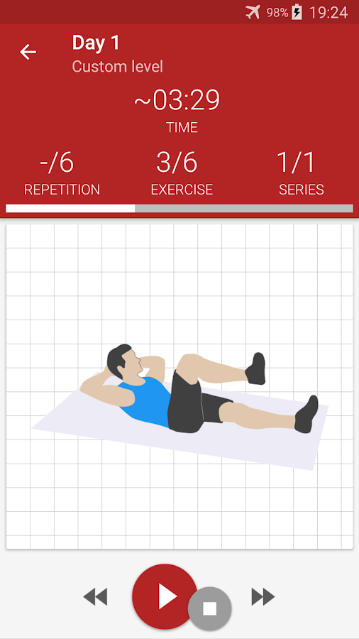 Screenshots of Abs workout for iPhone