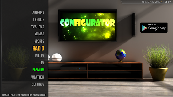 Configurator for Kodi+ Screenshot