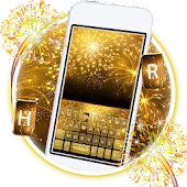 Gold 2018 New Year Keyboard Theme Android APK Download Free By Cool Keyboard For Android-2018 Theme Apps