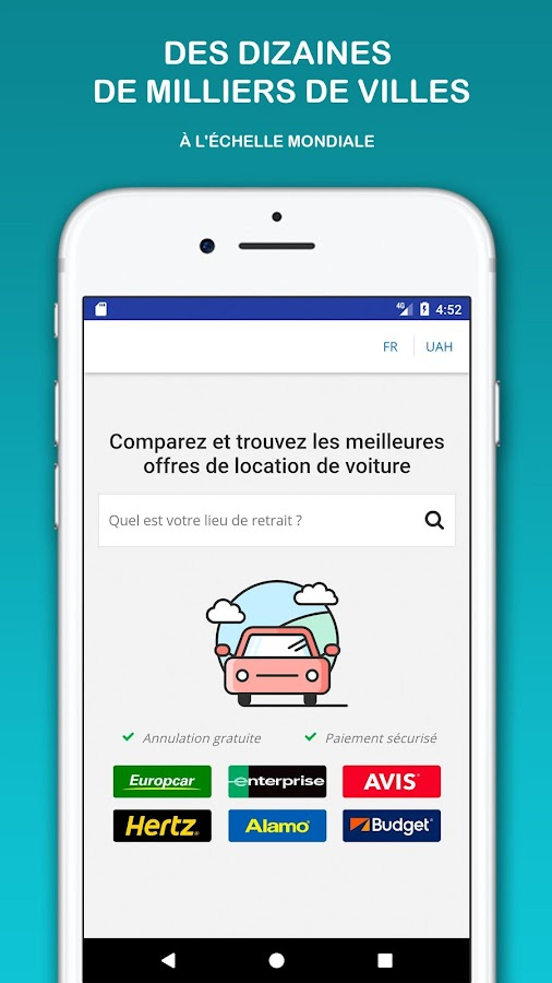 location de voiture - rentalcars24h - android apps on google play