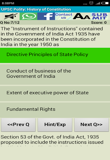 UPSC Prelims IAS Pre Solutions 8.6 screenshots 8
