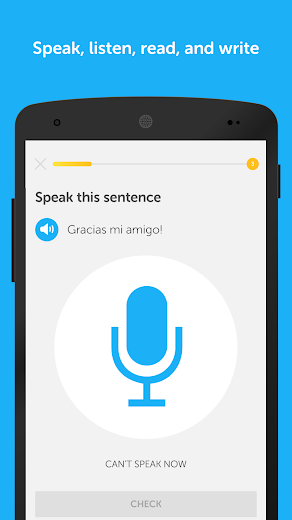 Screenshot 2 for Duolingo's Android app'