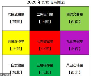 事業風水教學 - 2020玄宮飛星圖