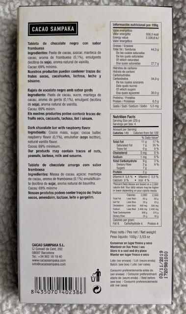 69% Raspberry Cacao Sampaka bar
