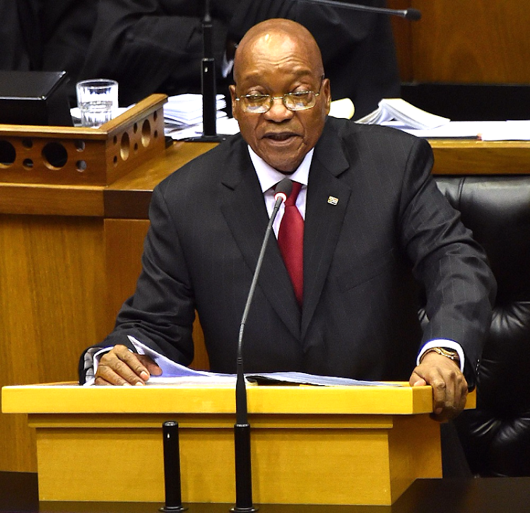 President Jacob Zuma delivers his state of the nation address  to a joint sitting of the National Assembly in Cape Town on Thursday. REUTERS