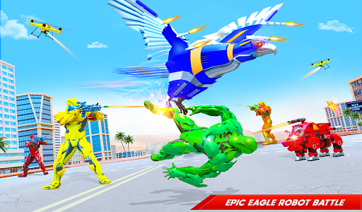 Flying Police Eagle Bike Robot Hero: Robot Games 29 screenshots 10