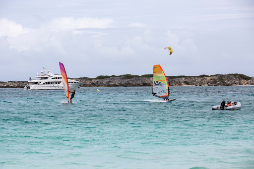 orient-bay-sailbording-1.jpg - Orient Bay consists of a series of beaches with water activities on the French side of St. Maarten.