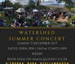 Watershed Summer Concert at D'Trekka Stellenbosch : Dtrekka