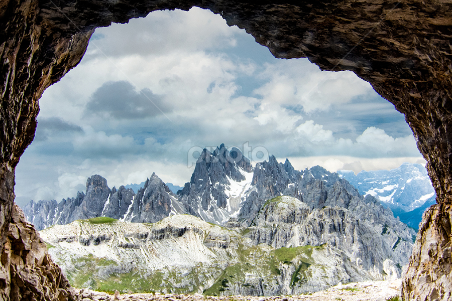 Clouds over the Dolomites by Steve Rogers - Landscapes Cloud Formations ( dolomites, italia, alps, cave, cloudscape, italian, clouds, dolomiti, italy )