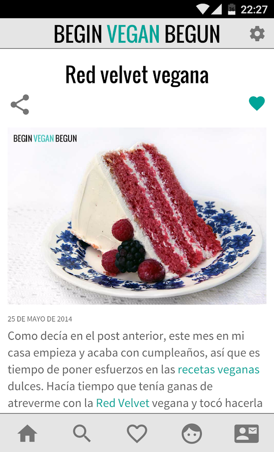 Begin Vegan Begun Recetas: captura de pantalla