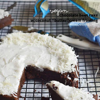 Vegan Fudgy Chocolate Beet Cake.