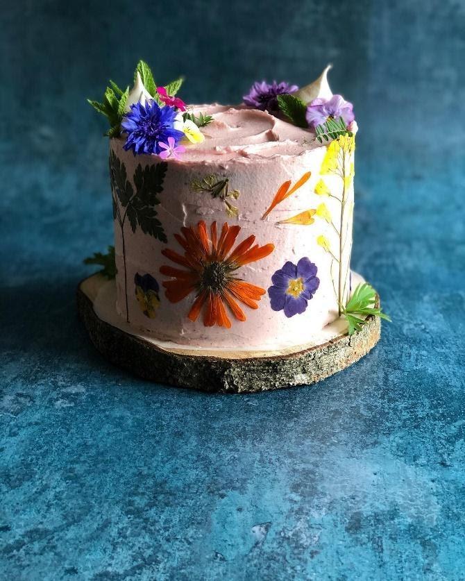Edible Flower Cakes – The Edible Flower
