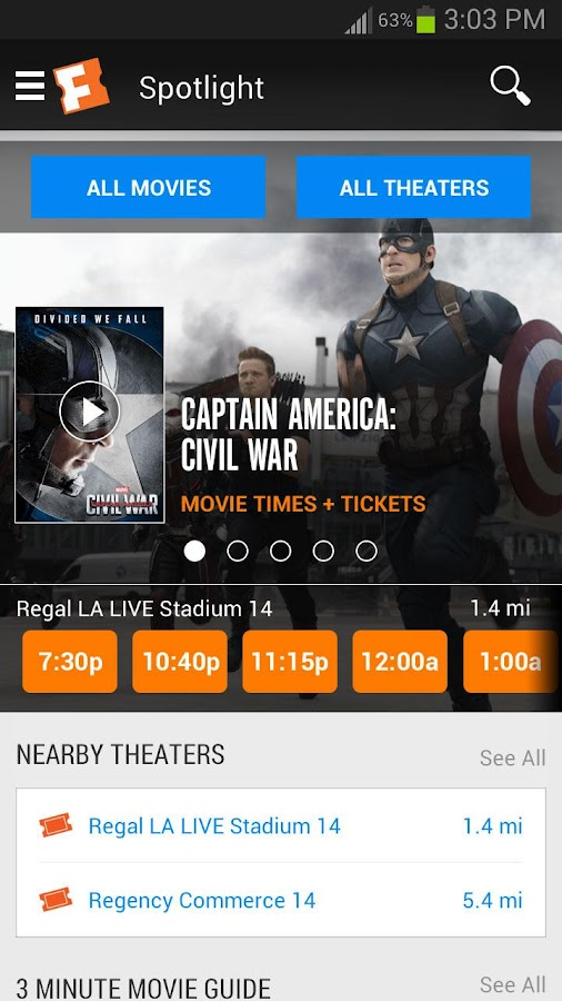 Nov 08, · Movies Showtimes by Theatre Showtimes by Movie Special Screenings also: Movie News. CATEGORIES THU. NOV. 8. All Events Film New This Week Showtimes by Theatre Showtimes by Movie.
