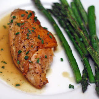 Susan Spicer's Pan-Roasted Chicken Breast with Vinegar, Mustard, and Tarragon.