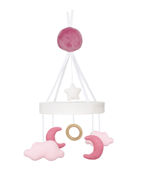 Music mobile cloud/moon pink