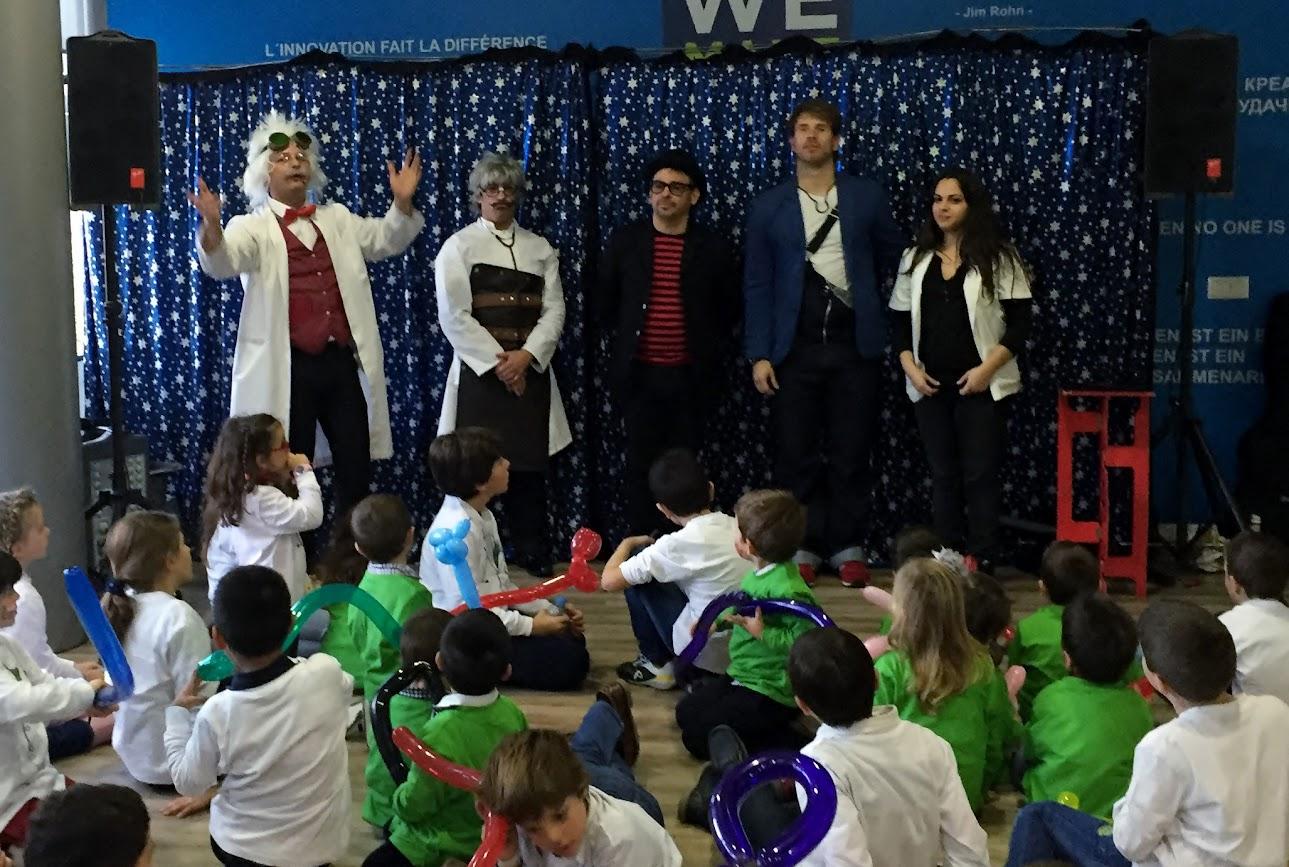 Robin, Fran, Alfonso V, Álex y Nuria fin de fiesta mágica Cigna