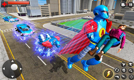 Flying Hero Robot Transform Car: Robot Games modavailable screenshots 2