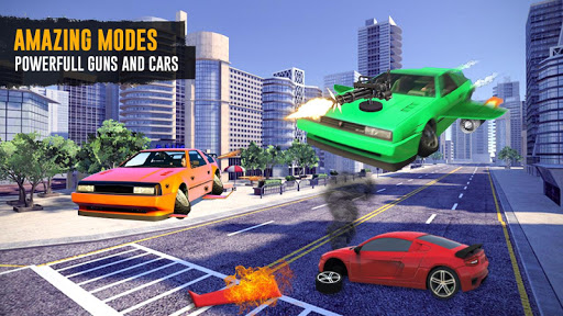 Flying Car Shooting Game: Modern Car Games 2020 apkmr screenshots 3