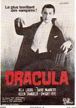 Photo: Afiche de el conde Drácula, película que asustaba a los niños de esos tiempos.
