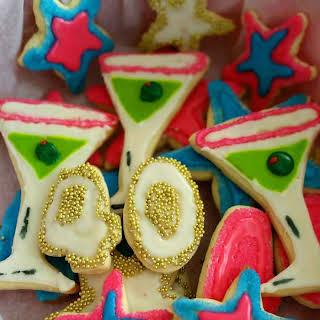 Royal Icing Cookies with Sprinkles.