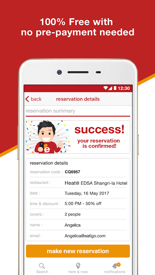 eatigo – discounted restaurant reservations- screenshot