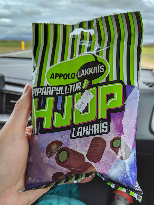 Icelandic salty chocolate licorice in a bag