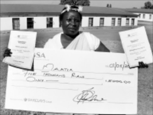 REWARD: Selaelo Elisabeth Rakgakola won the Mopani district Female Farmer of the Year competition. © Sowetan.