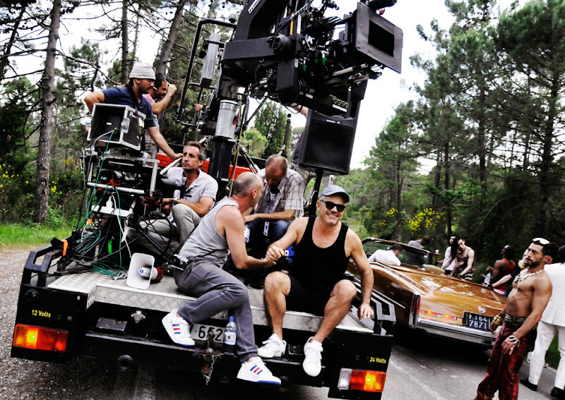 Photo: From the making of the 'Turn Up The Radio' video