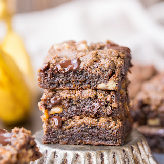 Chocolate Chunk Banana Nut Blondies.