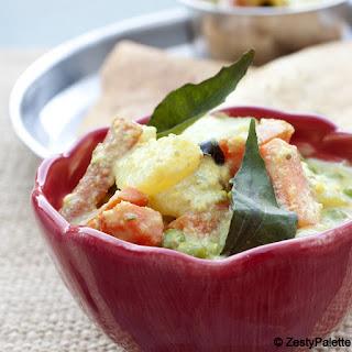 Avial (Aviyal) – Vegetables in Yogurt Gravy