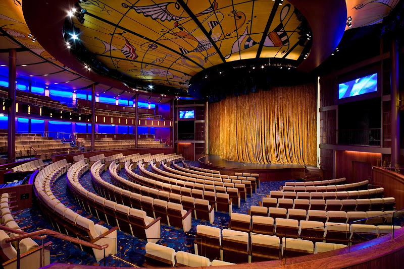 Celebrity Cruises' Solstice Theater offers a state-of-the-art sound system and a great setting for awards ceremonies.