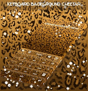 Keyboard Background Cheetah - náhled