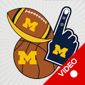 Michigan Wolverines Animated Selfie Stickers