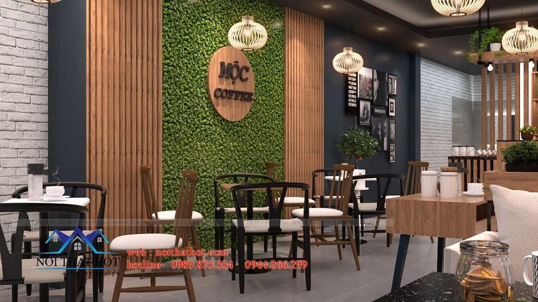 thiết kế quán cafe 40m2 4