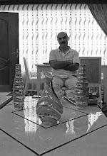 Photo: Cabar Camal Xerib, Kurdish writer writing in Sorani dialect, at his home in Hawlêr, 2013
