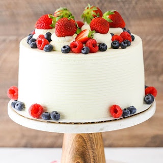 Berry Mascarpone Layer Cake.