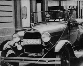 Photo: My father behind the steering wheel, Enschede the Netherlands