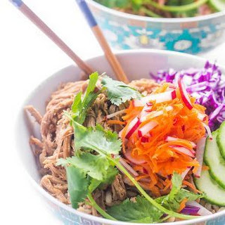 Slow Cooker Bahn Mi Rice Bowls.