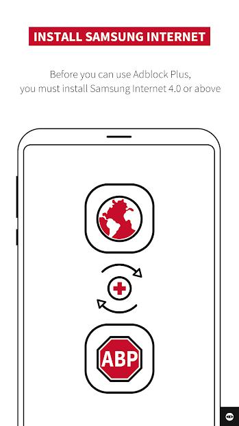 Adblock Plus for Samsung Internet - Browse safe