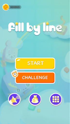Fill by line - one-storke puzzle screenshot 1