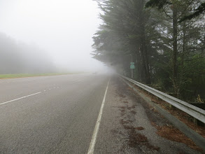Photo: It was misty, foggy, and drizzly near San Francisco