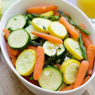 Roasted Spring Vegetables.