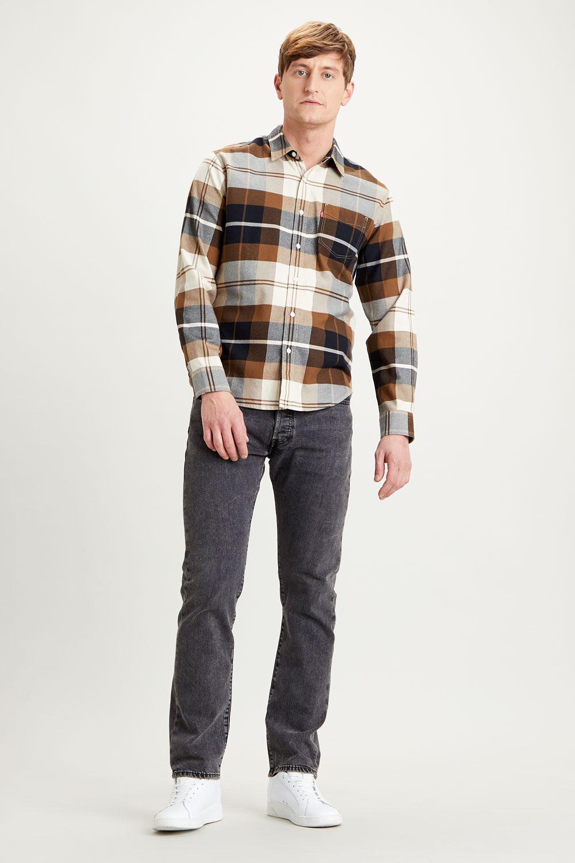 Levi's Sunset one pocket shirt standard fit brophy almond milk