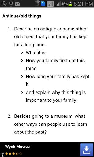English Exam Speaking Topics  screenshots 2