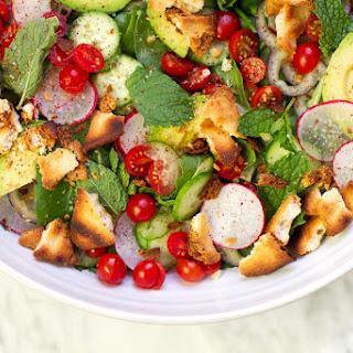 Tomato Avocado Fattoush Salad